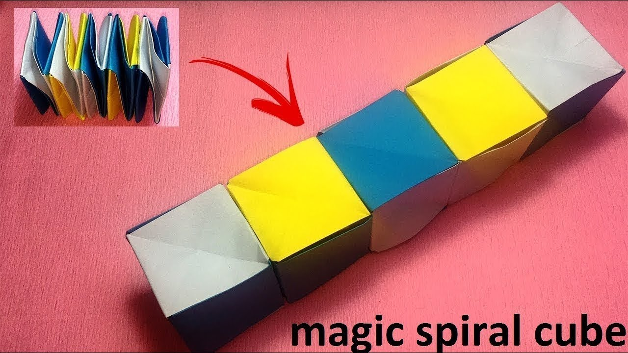 Origami Magic Spiral Cube    Origami For Kids    Step By ... - photo#31