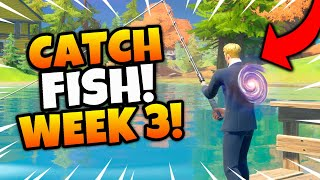 Catch Fish at Camp Cod, Lake Canoe, or Stealthy Stronghold Fortnite Guide! Week 3 Quests