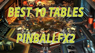 BEST 10 tables PINBALLFX2