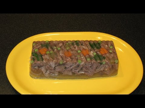 Beef Aspic. How to Cook Beef Jelly. Boiled Ham Recipe.