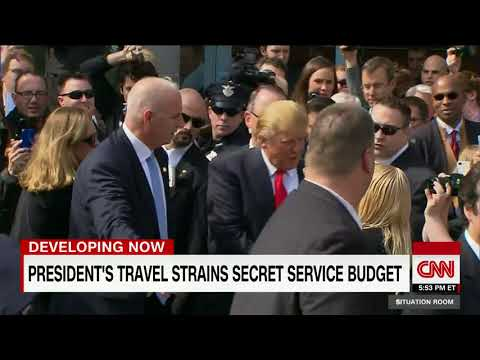 Trump's travel straining Secret Service budget