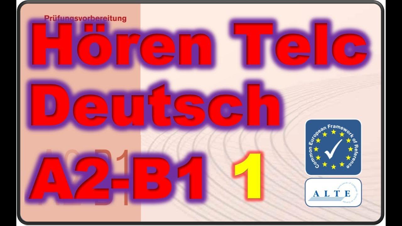 Modelltest 1 A2 B1 Hören Deutsch 2019 Youtube