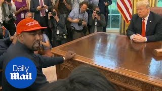 Kanye says wearing the MAGA hat makes him feel like a superhero