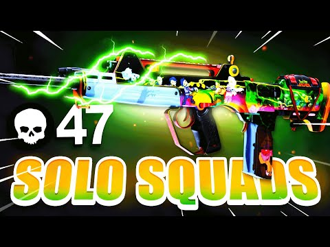 47 KILLS in *SOLO SQUADS* WORLD RECORD HUNTING in WARZONE! (Cold War Warzone)