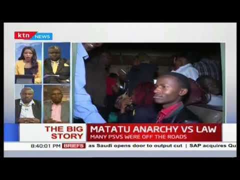 Fred Matiang\'i: The Matatu sanity that started today is here to stay,lets go back to common sense