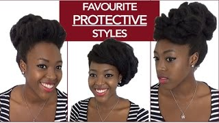 3 QUICK PROTECTIVE STYLES | Work, Uni and Office (Long 4C Natural Hair) - Naturally High