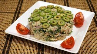 Салат из тунца с фасолью, в итальянском стиле_Italian style tuna salad