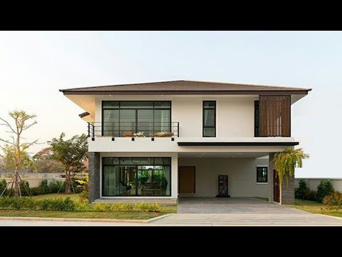 hqdefault - 12+ Front Design Of House In Small Budget Double Floor PNG