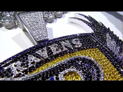 Custom Made Jewelry By LabMadeJewelry: NFL Baltimore Ravens Logo +G-Shock +360 Chain/Ring/Earrings!