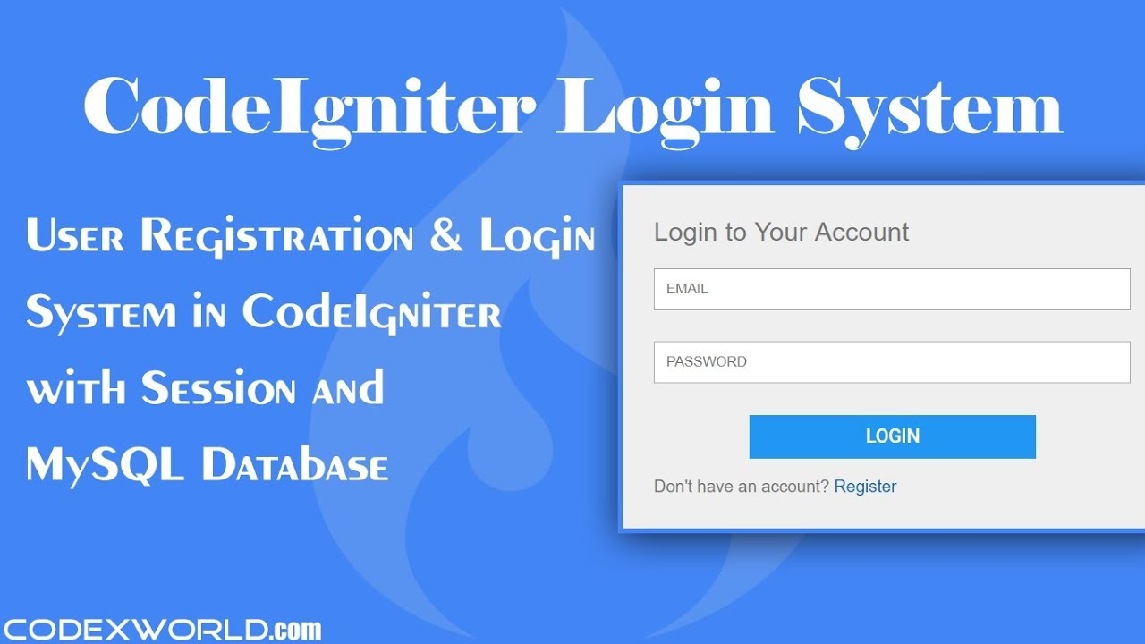 User Registration and Login System in CodeIgniter - CodexWorld