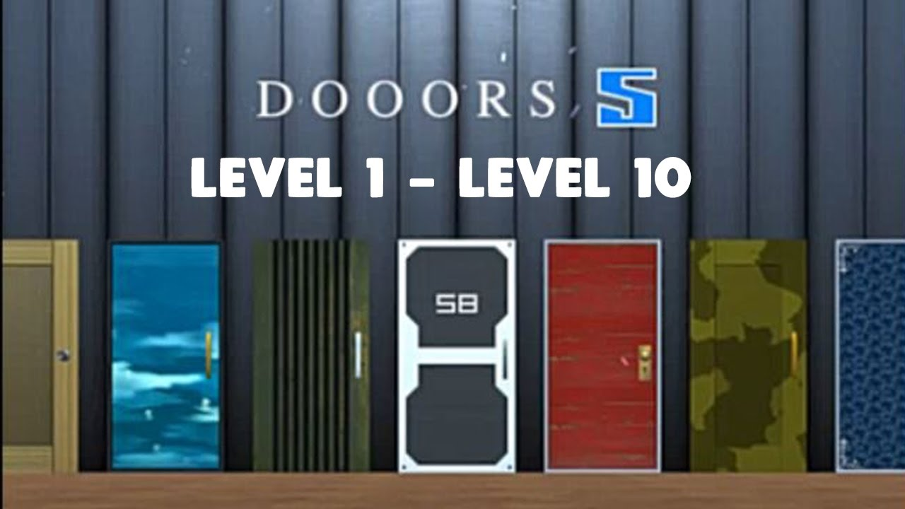 DOOORS 5 - LEVEL 1 2 3 4 5 6 7 8 9 10 WALKTHROUGH by Egameplay4U
