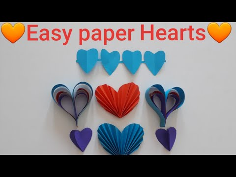 Download Diy Paper Craft Paper Heart Design Valentine S Day And Room