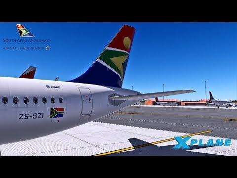 X Plane 11 | SAA A320 | Johannesburg - Port Elizabeth