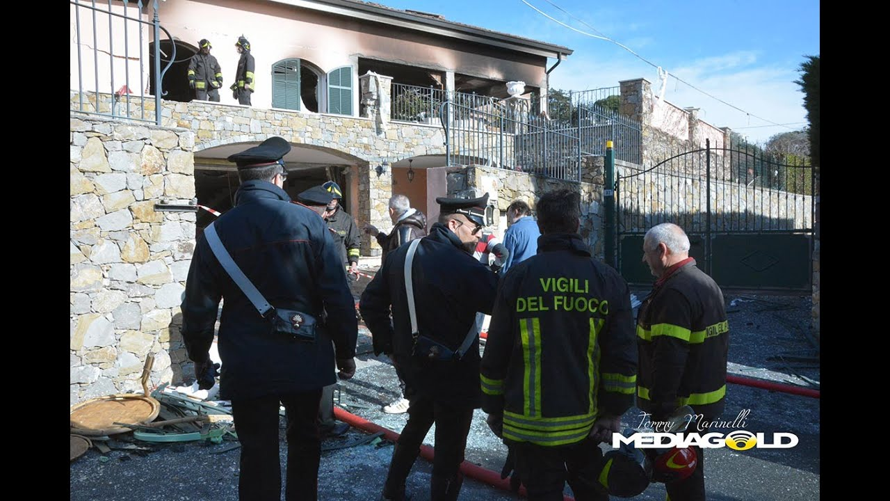 SANREMO: ESPLOSIONE IN VILLA, GABRIEL GARKO FERITO: video #1