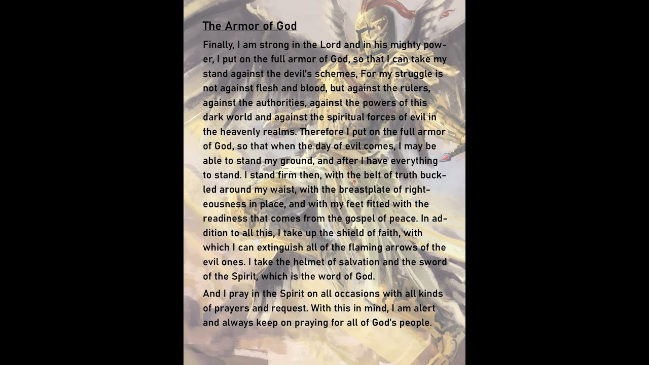 The Day of Evil Has Come Time To Put On The Armor of God