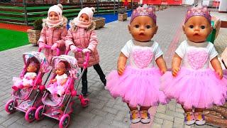 Куклы Беби Бон Настя и подарки с Единорогом Видео для детей / Magic twins