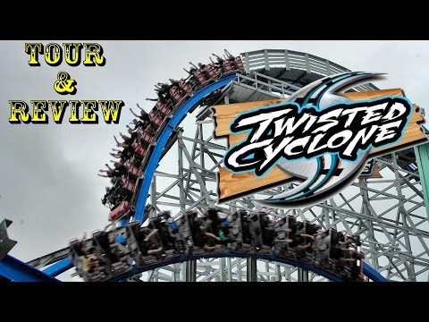 First Look: Twisted Cyclone - Six Flags Over Georgia's NEW ROLLER COASTER Tour, Review, & POVS!