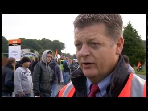 Strajk rzeźników z Cranswick'a w Preston w UK