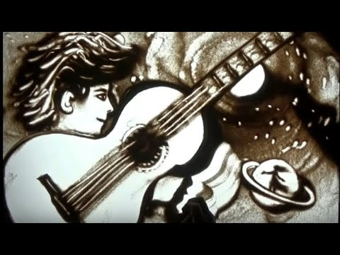 Modern Art Painting # Universal Love- Sand Art Video