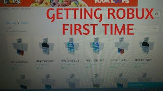 Getting robux for the first time!!!!!