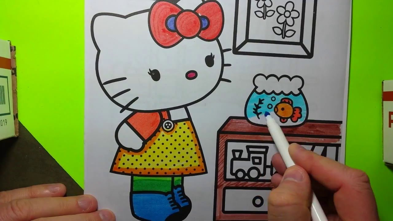 hello kitty coloring pages learn to draw and color hello kity