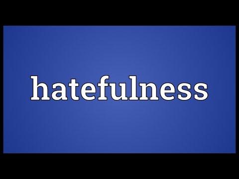 Header of hatefulness