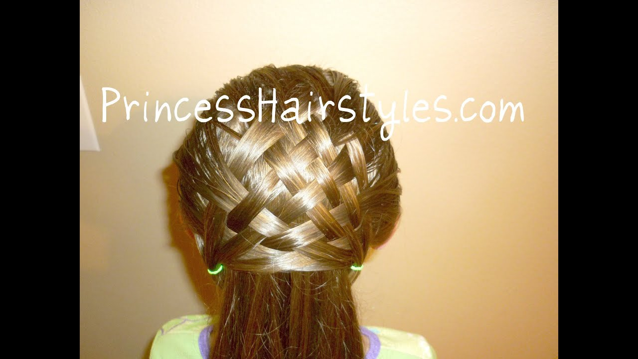 Basket Weave Hairstyle Design Hair4myprincess Youtube