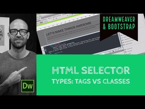 HTML Selector Types: Tags Vs Classes - Dreamweaver Tutorial [22/54]