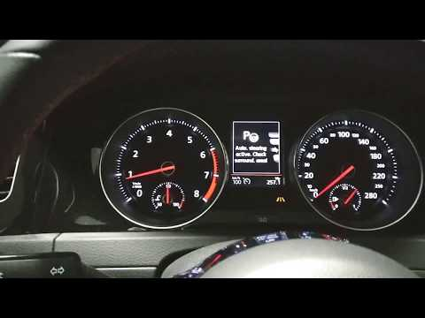 2018 Golf GTI. Park Assist test on manual transmission