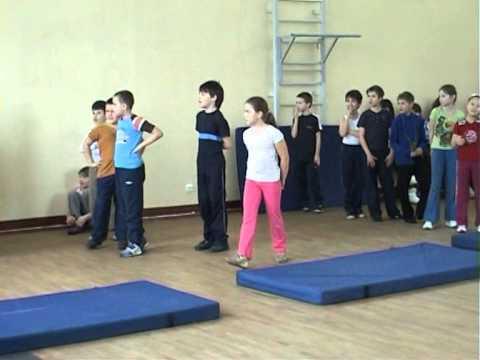 урок физкультуры 3-2 класс лицей 384 весна 2011