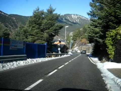 Carretera Engolasters Andorra Desembre 2009