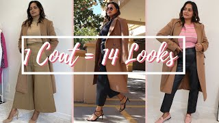 HOW TO STYLE CAMEL COAT | 14 FALL & WINTER OUTFITS | BEST WAYS TO (RE)WEAR - PINK APRIL DIARY