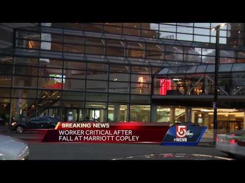 Worker falls multiple stories inside Marriott Copley