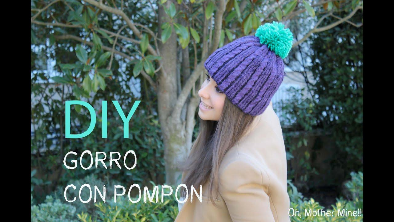 DIY Gorro de lana con pompón - YouTube 6b1e409f0d4