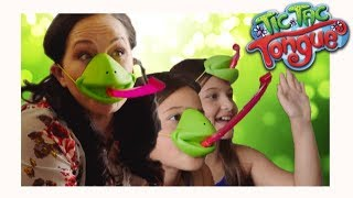 Family fun 💚 with Tic Tac Tongue! 🐸