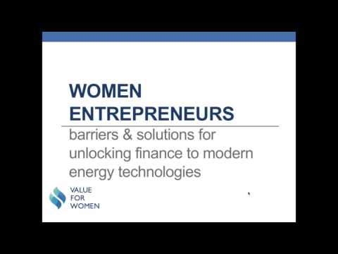 Innovative Finance: Unlocking Women's Entrepreneurship and Energy Access