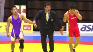 Japanese young wrestler's boner