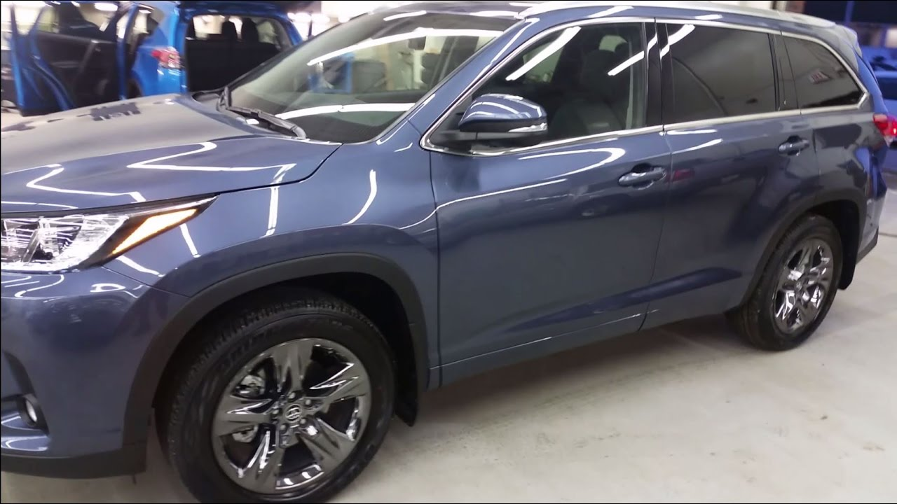 2017 Toyota Highlander Limited In Shoreline Blue Exterior
