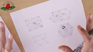 how to draw geometrical hemp leaf pattern with mehendi art : English