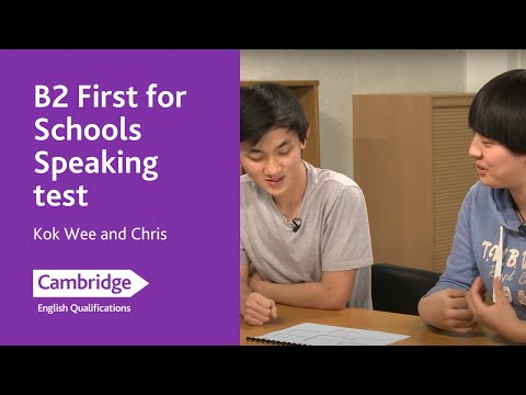 Cambridge English: First for Schools Speaking from 2015