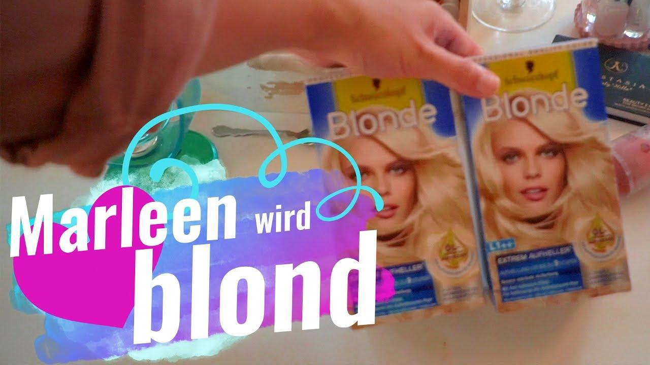 erstes mal haare fà rben marleen wird blond 17 8 17