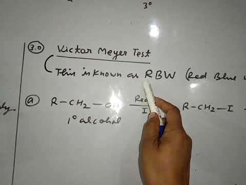 Difference In Alcohol, Victor Mayer, Lucas And Oxidation Test
