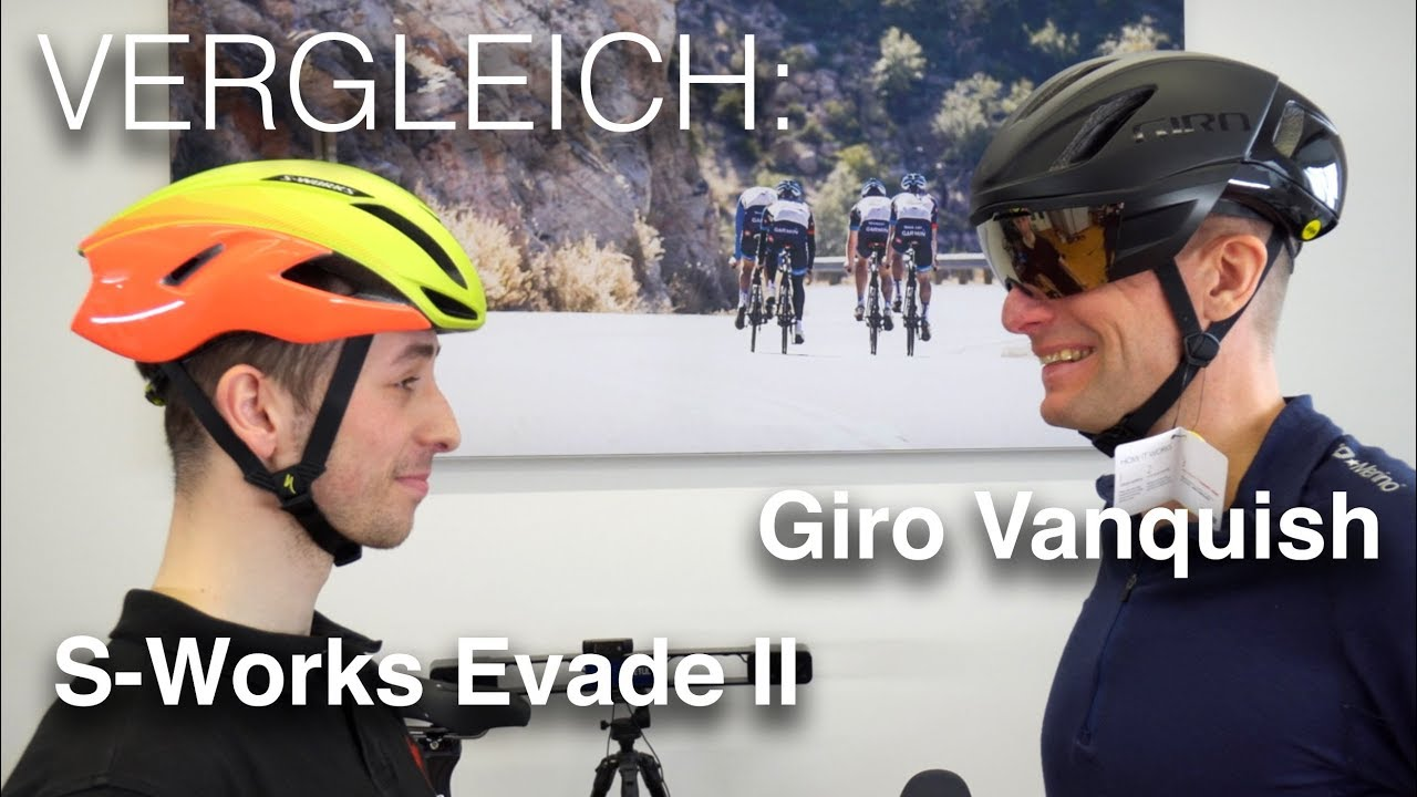 9234553c867 2018er Modelle im Vergleich: S-Works Evade 2 II vs. Giro Vanquish Mips  Road-Aero-Helm (deutsch)