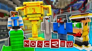 MCPE YOUTUBERS BATTLE!! | Grid Runners by Noxcrew in Minecraft PE | Marketplace Map Gameplay
