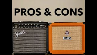 BEST Amp Under $150 for YOU? Fender Champion 20 VS Orange Crush 20 (Review and Demo)