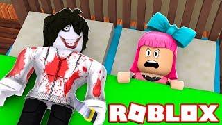 TEM UM MENINO ESTRANHO NA MINHA CAMA do ROBLOX!!! (Jeff The Killer)