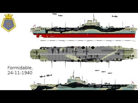 Aircraft Carriers in World War II: launched, commissioned, sunken
