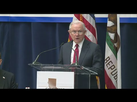Attorney Jeff Sessions Speaks In Sacramento