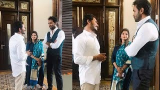 Hero Manchu Vishnu & His Wife Viranica Meet YS Jagan Mohan Reddy