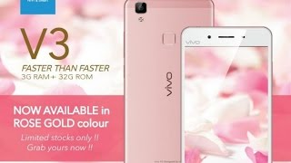 Vivo V3 Rose Gold Unboxing and Diwali Gifts In Hindi